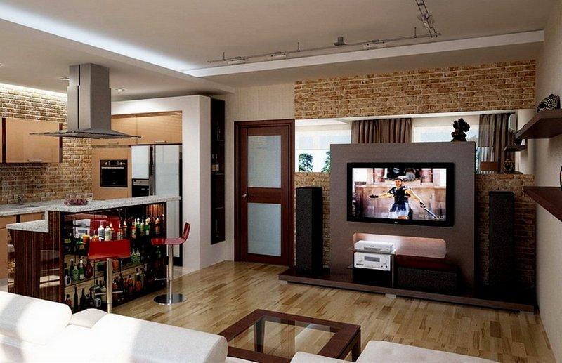 Дизайн кухни-студии фото 4