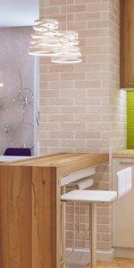 зонирование кухни-студии