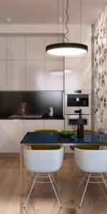 прозрачная перегородка для кухни-студии