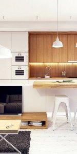 кухня-студия с освещением
