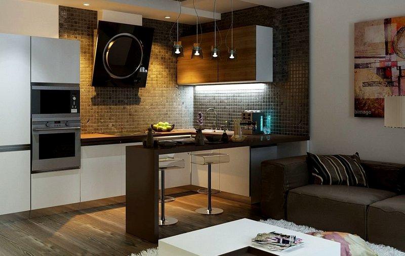 миниатюрная кухня-студия