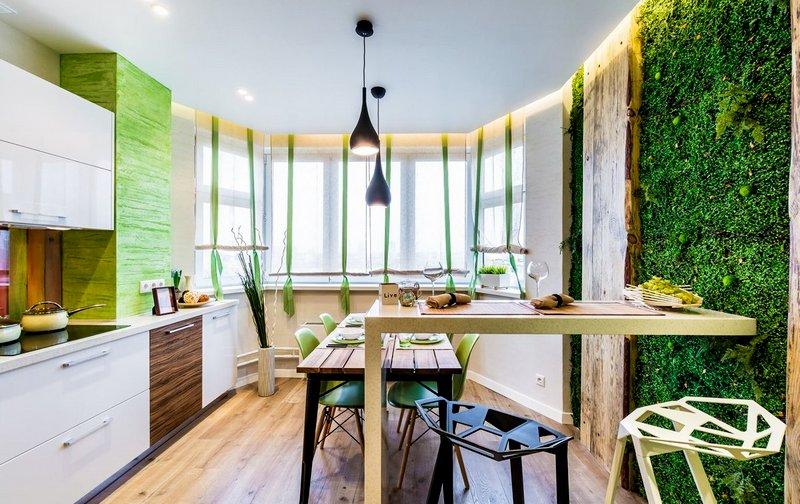 экологичная кухня-гостиная