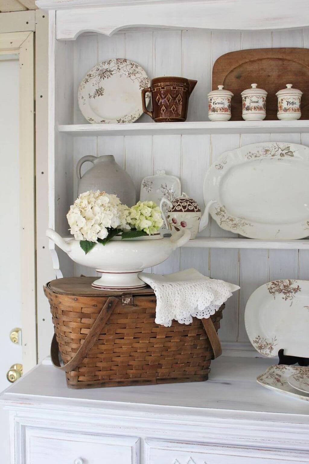 Плетёная корзинка в стиле прованс