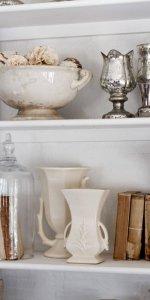 Керамические аксессуары на кухне прованс