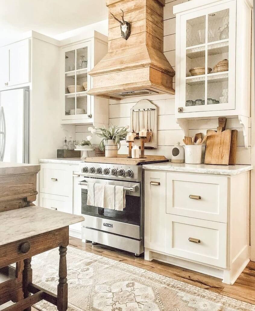 Кухня, стилизованная под винтаж