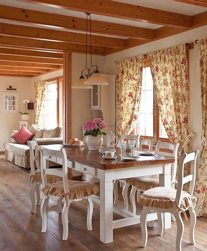 Занавески для кухни прованс