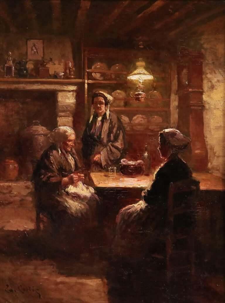 Старинная кухня в Бретони