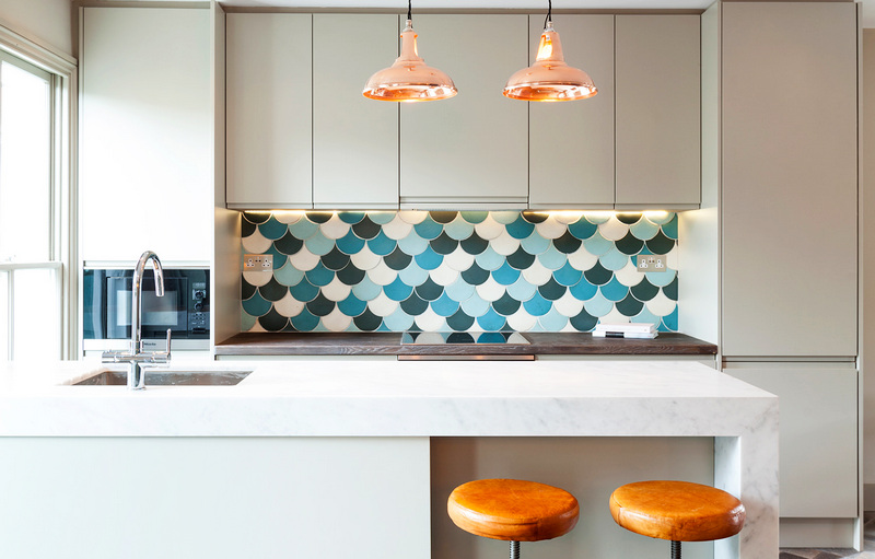 фартук для кухни в стие минимализм