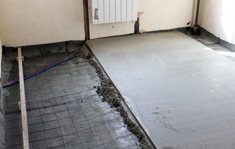 монолитная стяжка на полу