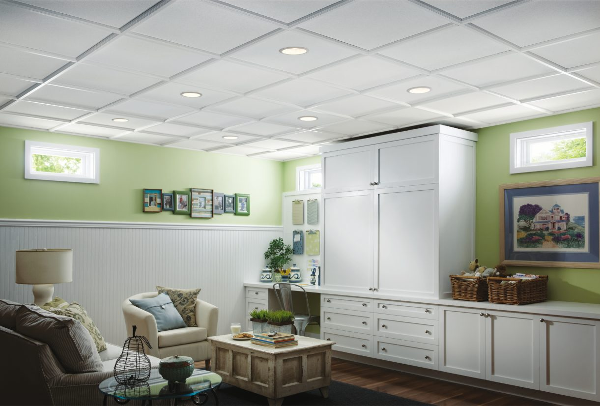 потолок армстронг на кухне