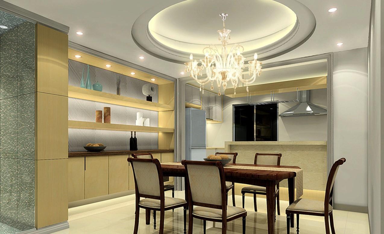 потолок на кухне с подсветкой