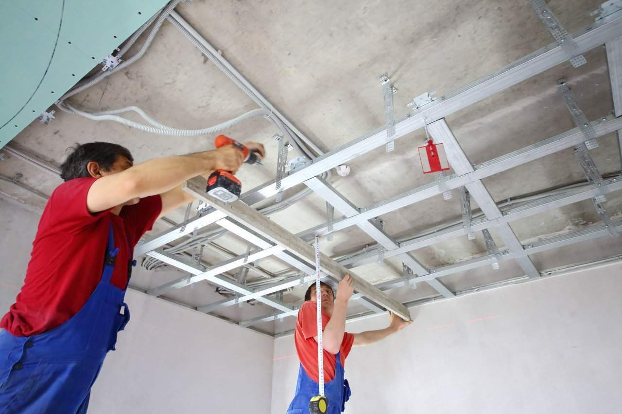 разборка подвесного потолка
