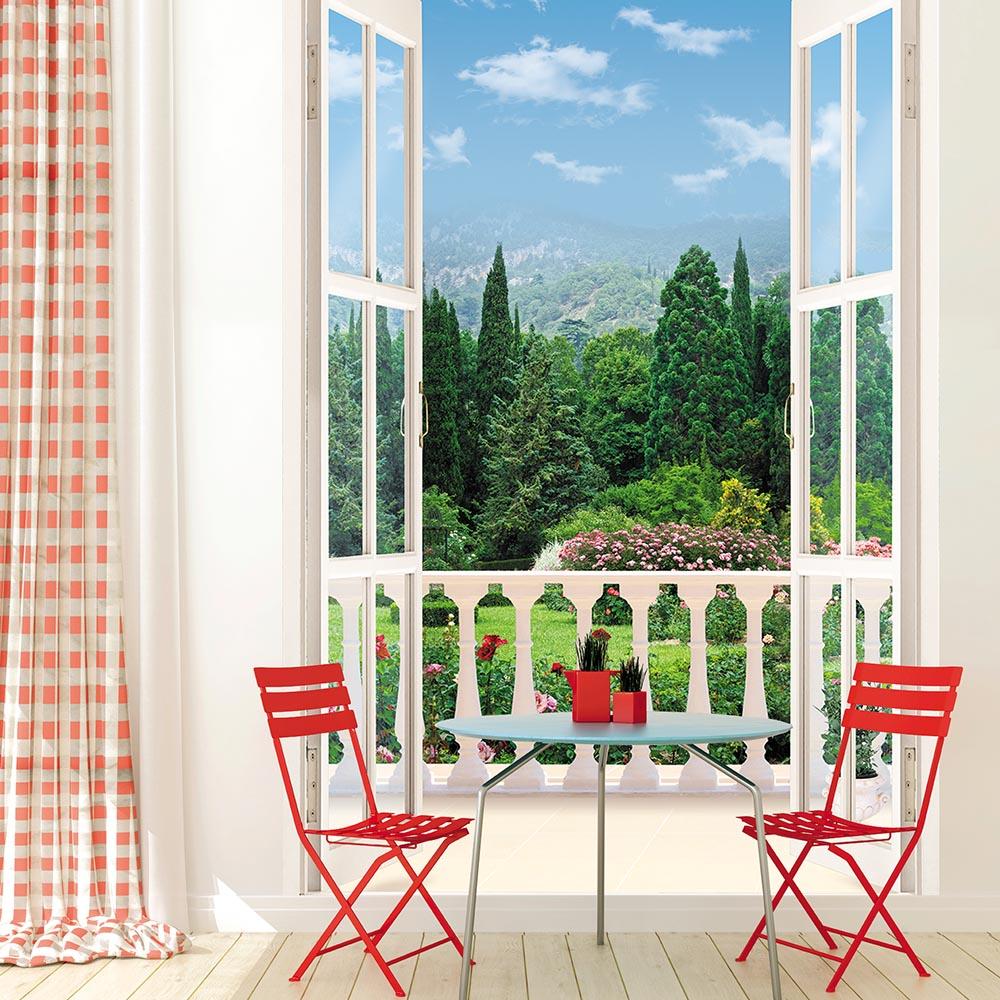 Фотообои окно балкон