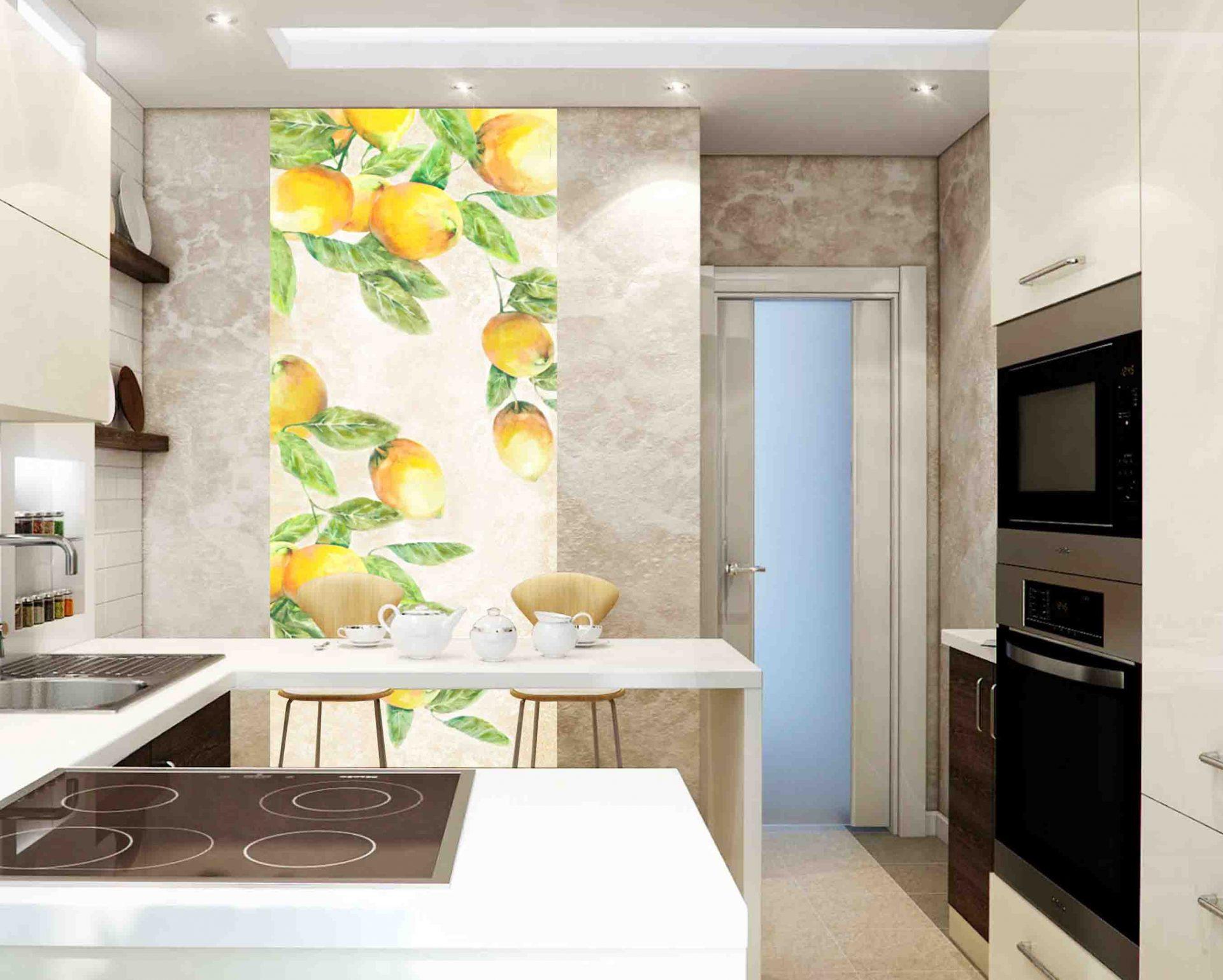примеры фотообои на стену для кухни используются кованые