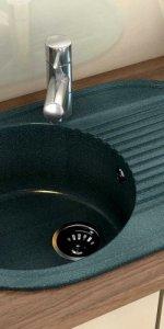 круглая мойка на кухня