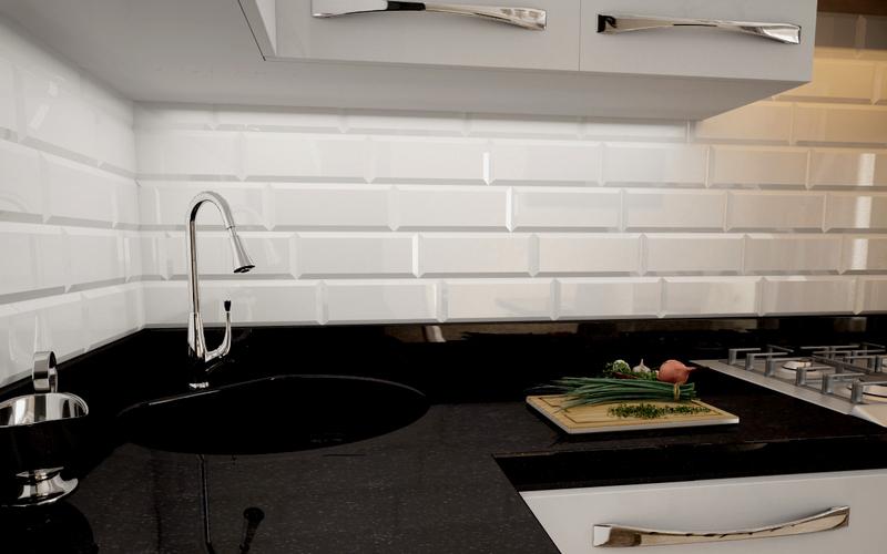 интегрируемая угловая мойка на кухню