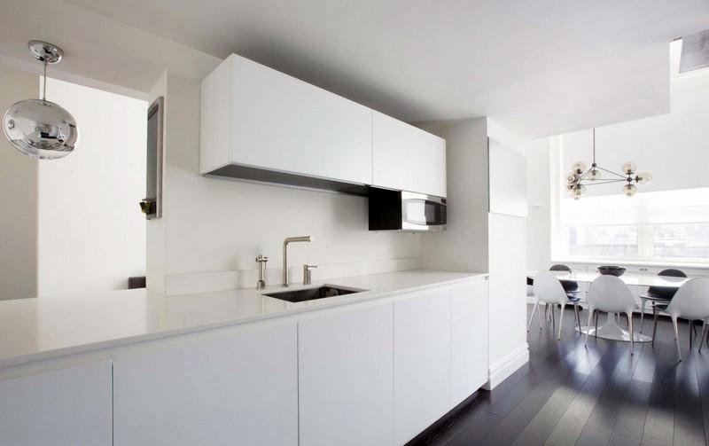 минималистичная кухня с фартуком