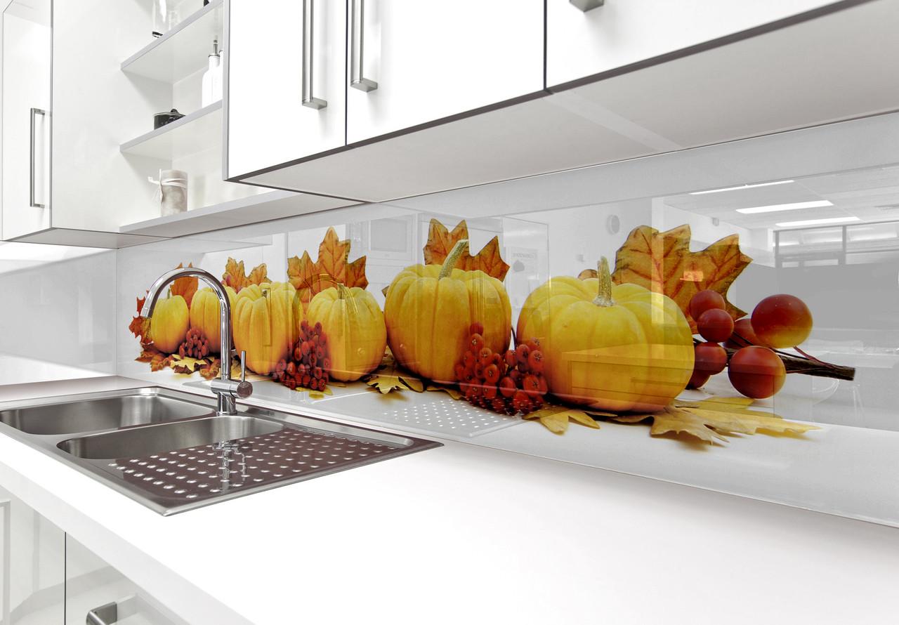 яркий фартук для кухни из акрилового стекла