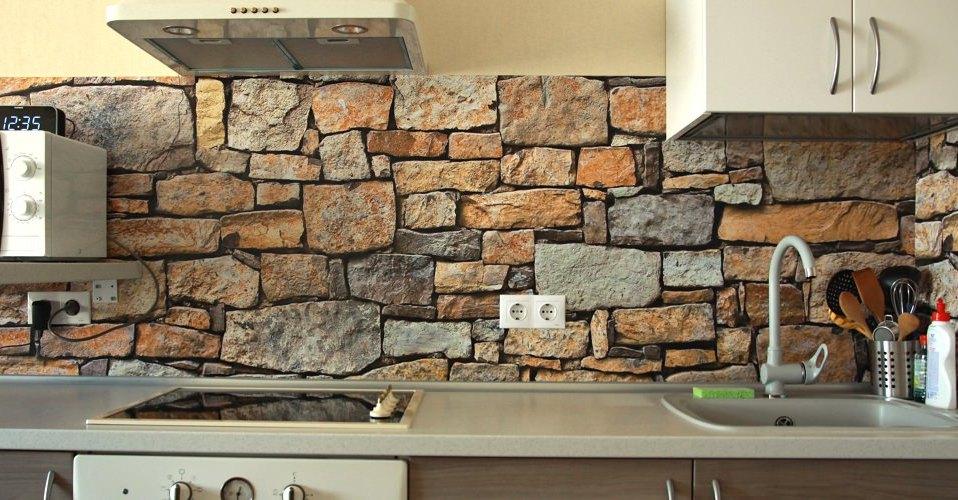 фартук для кухни под камень