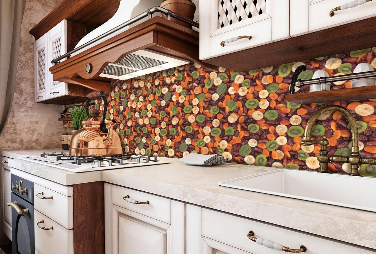 пластиковый кухонный фартук с принтом