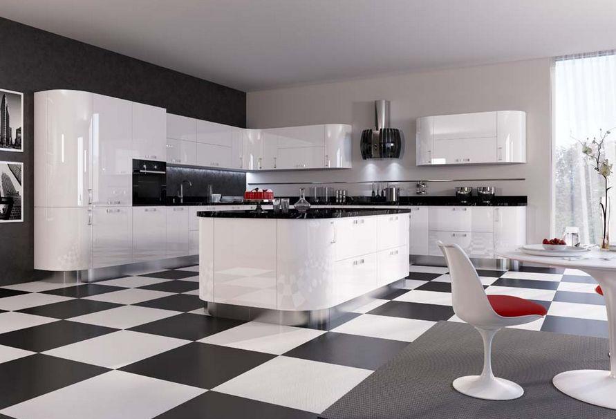 черно-белая кухня Мария