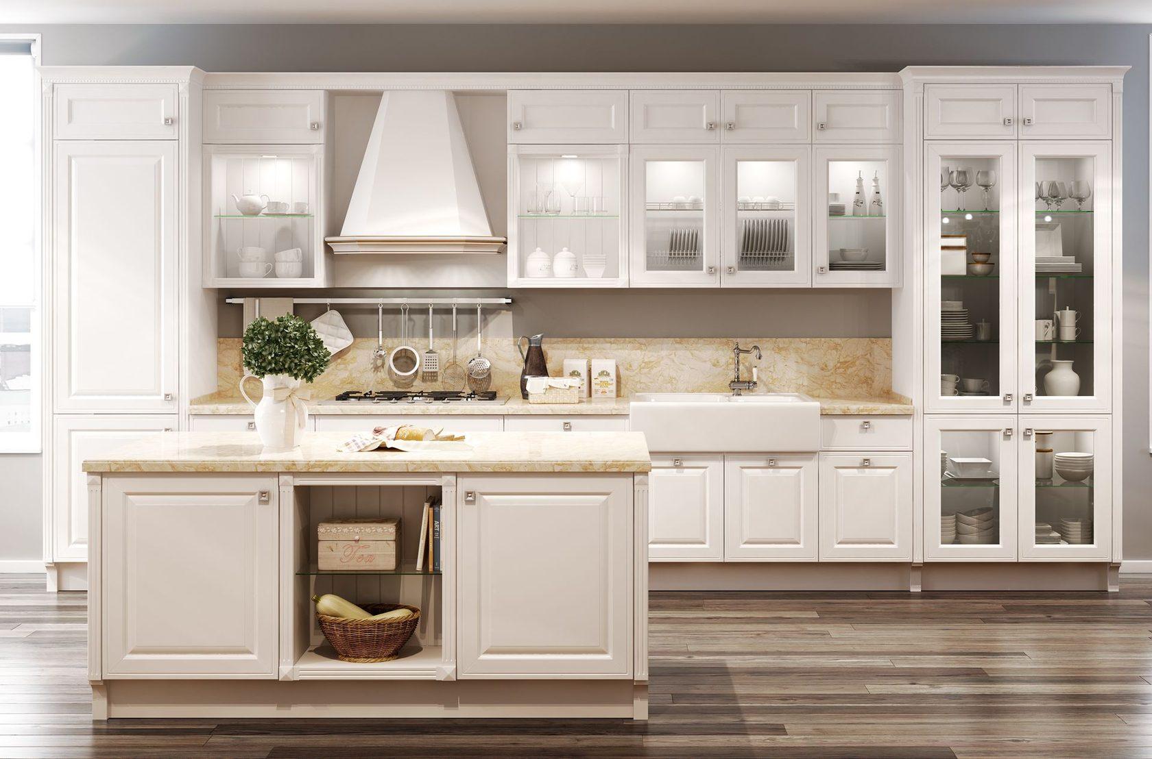 белая кухня мария классика