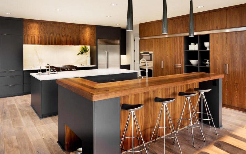 кухня в стиле модерн с баром