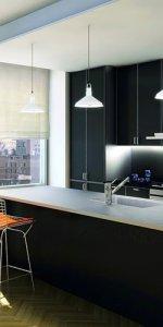 интерьер бара в студии на кухне