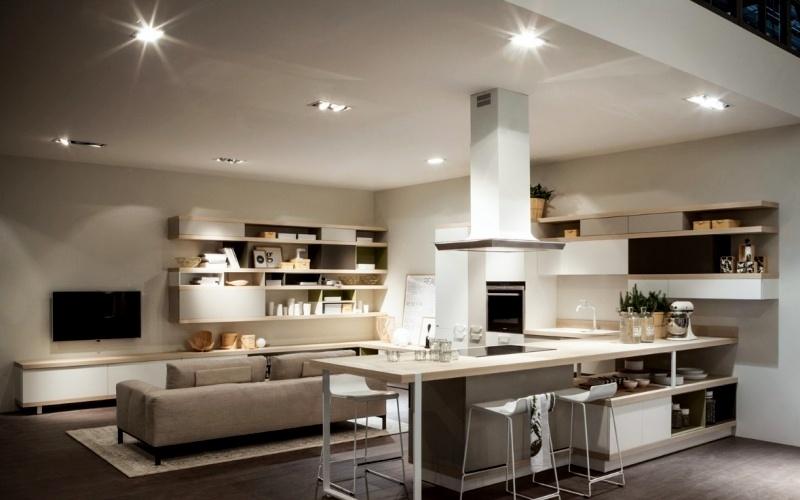 фото кухни с красивой барной стойкой