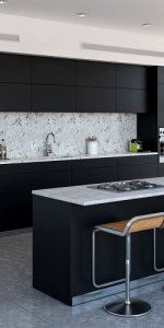 зонирование кухни и студии