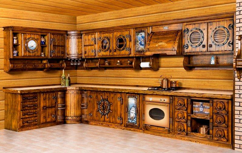 кухня под старину в естественных тонах