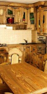 фото красивой состаренной кухни
