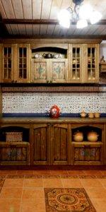 фото состаренной мебели на кухне