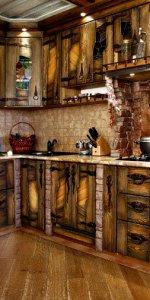красивый дизайн кухни под старину