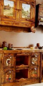 состаренная мебель для кухни