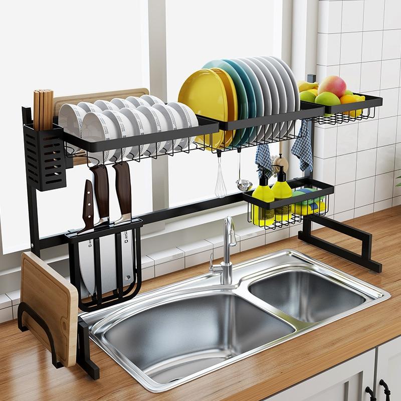 сушка для посуды над раковиной