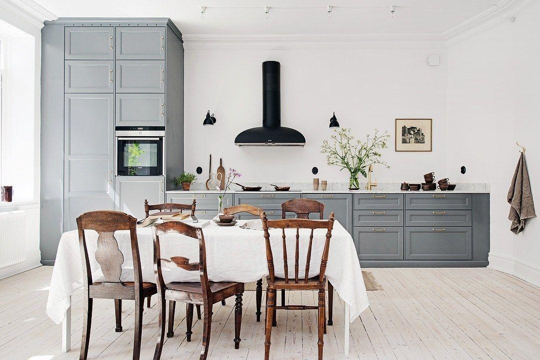 встроенная техника на кухне без верхних шкафов