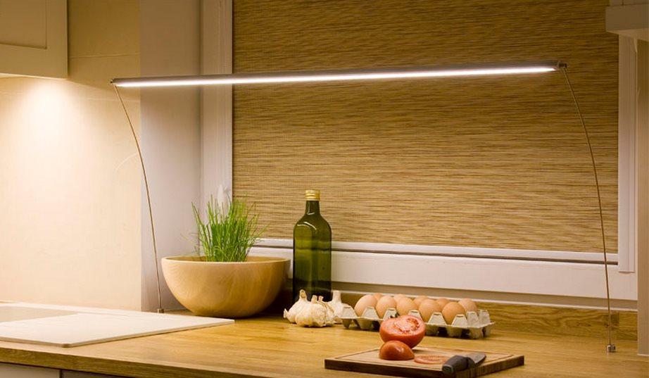 светодиодная лампа над столешницей