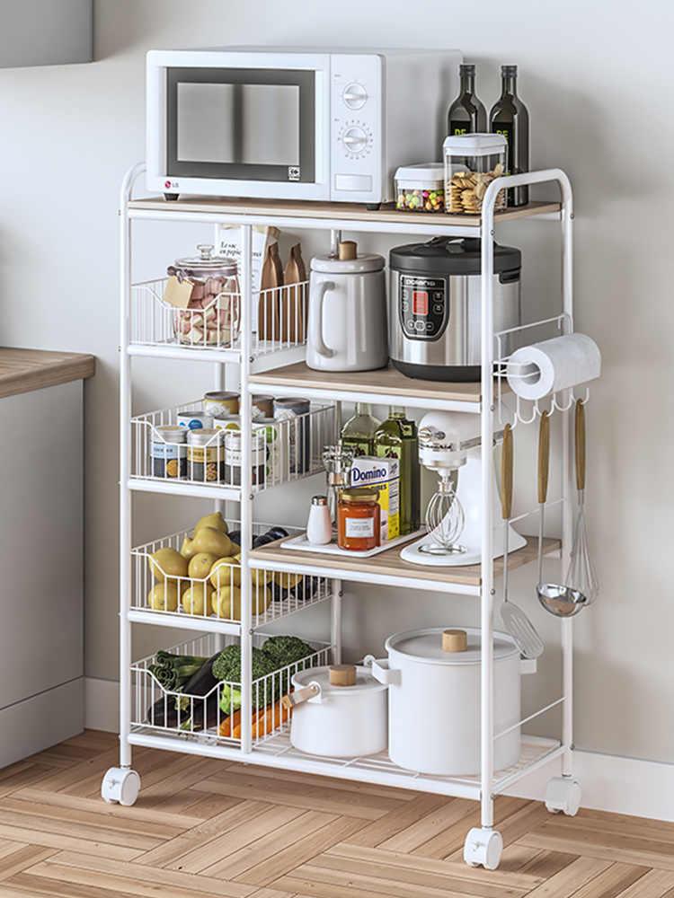 высокий стеллаж для кухни