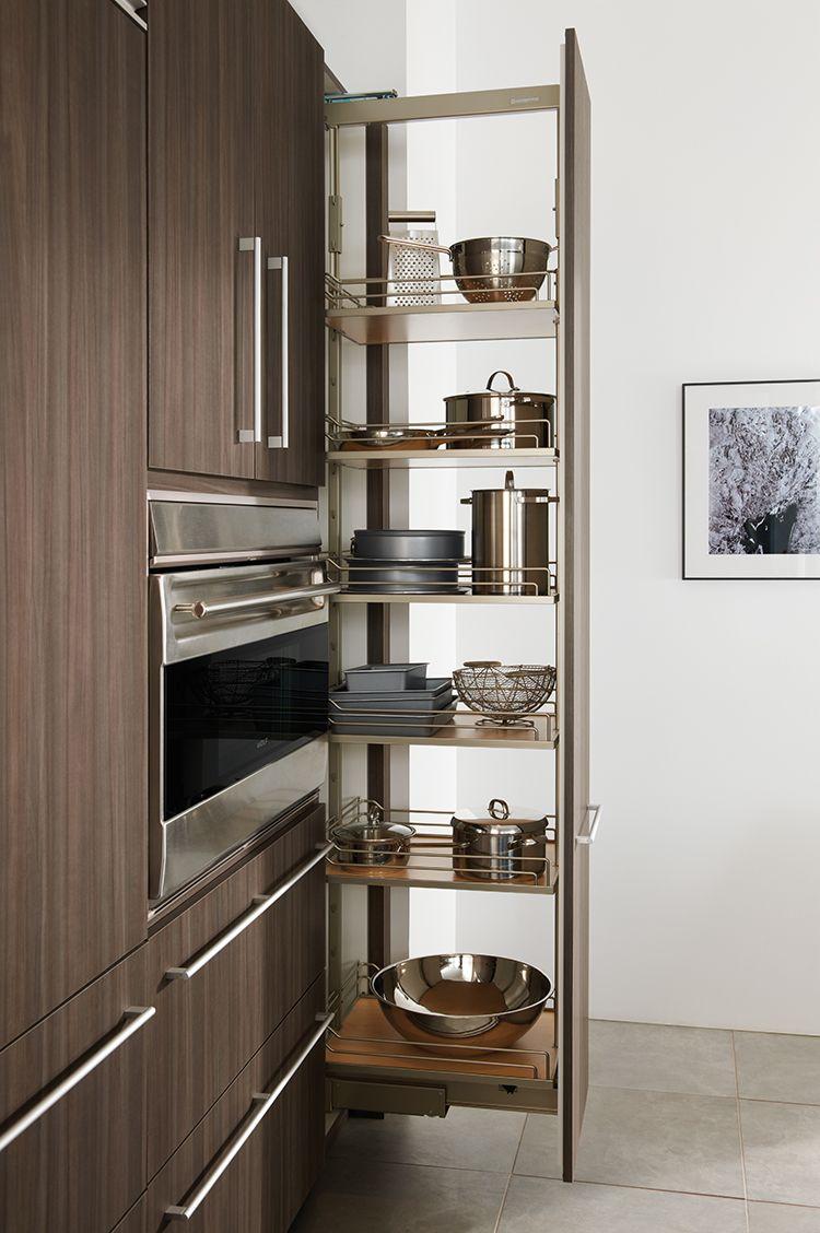 выдвижной стеллаж для кухни