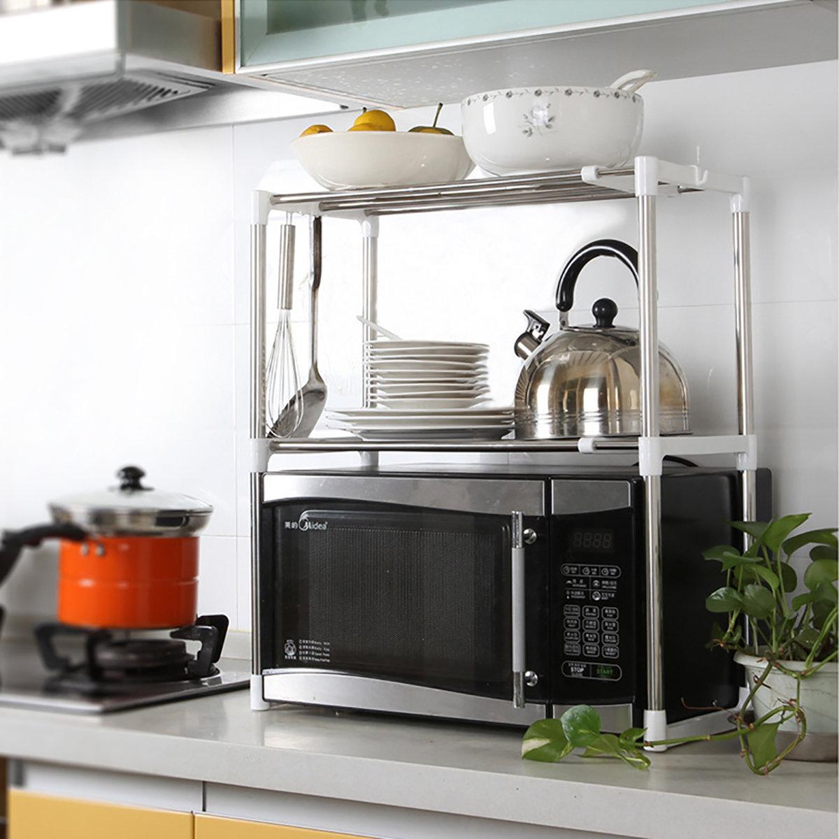 минималистичный стеллаж для кухни