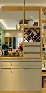 стеллаж с гарнитуром для кухни