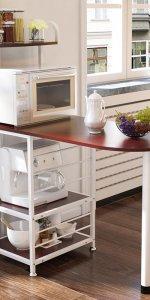 стеллаж для кухни со столешницей