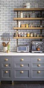 стеллаж для кухни из древесины
