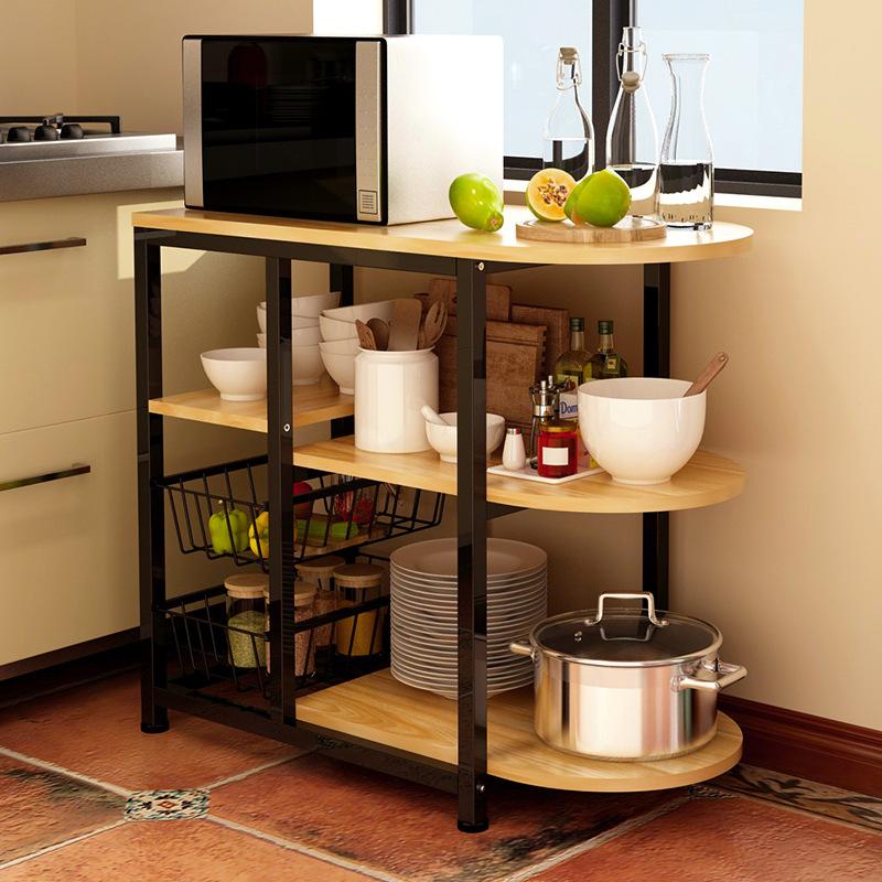 деревянный стеллаж для кухни