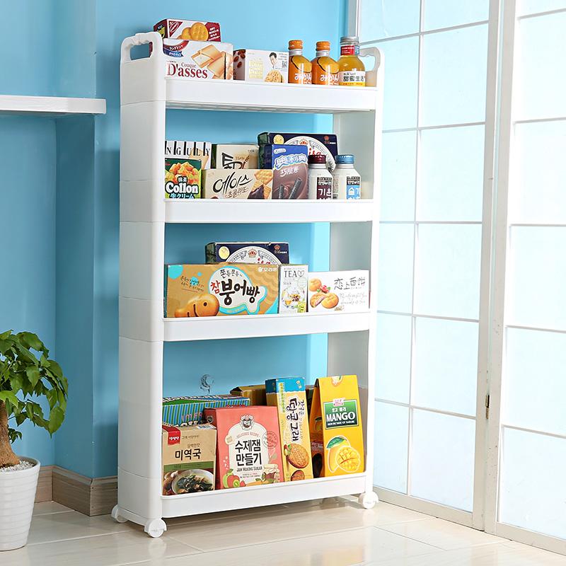 высокий стеллаж для кухни из пластика