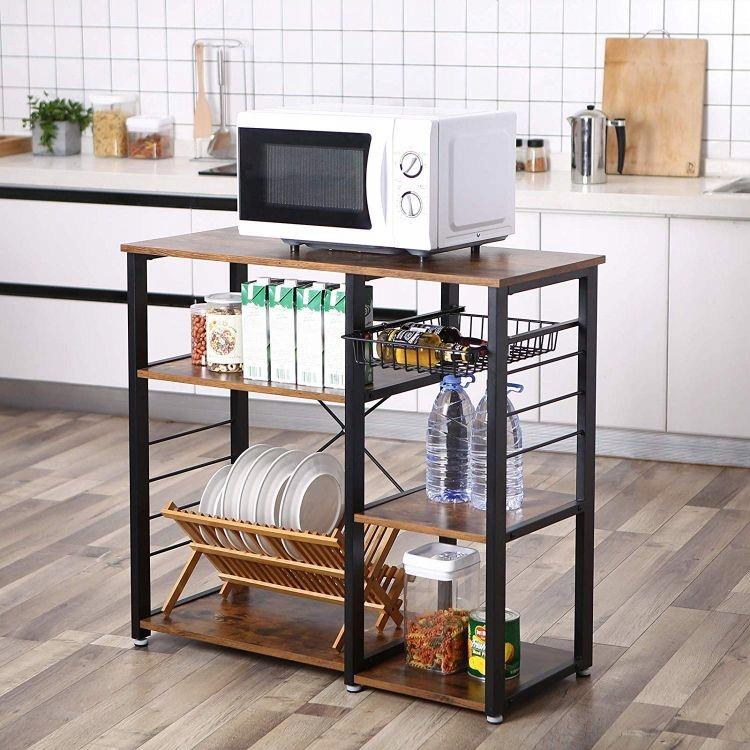 стильный стеллаж для кухни
