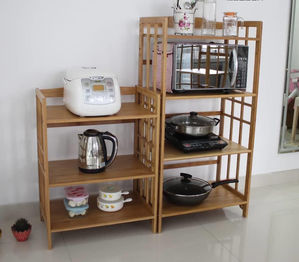 деревянный кухонный стеллаж