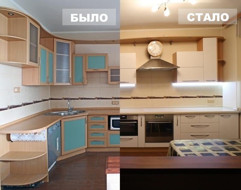 результат замены кухонных фасадов