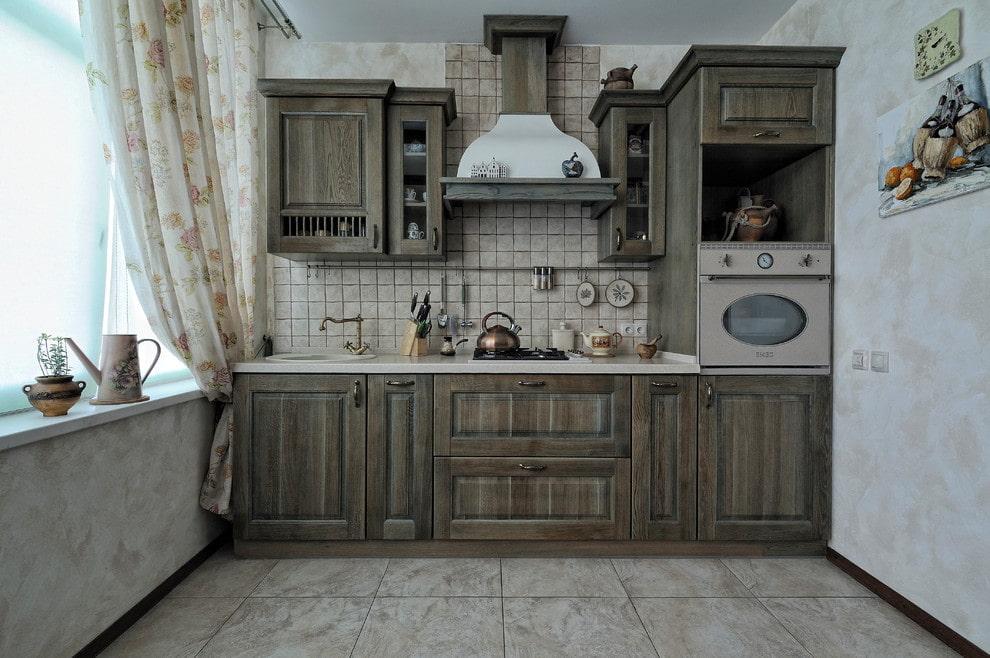 состаривание кухонных фасадов